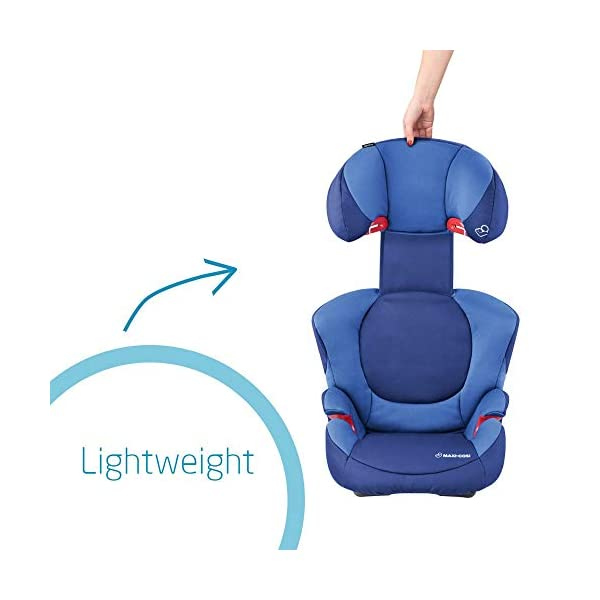 Maxi-Cosi Rodi XP FIX Child Car Seat, ISOFIX Booster Car Seat, Lightweight, 3.5-12 Years, 15-36 kg, Electric Blue Maxi-Cosi Booster car seat for children from 15 to 36 kg (3.5 to 12 years) Side protection system for optimal protection against side impact for head, lower back and hips Backrest of this lightweight car seat grows along with child in length and width 4