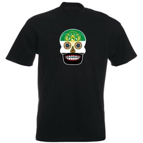T-Shirt - Afghanistan - Sugar Skull - Fahne - Herren - unisex Schwarz