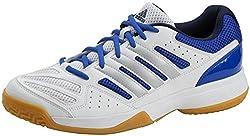 Adidas Speedcourt 8 Men Herren Hallenschuhe Weiss/Blau, Schuhgröße:44 2/3