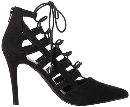 BIANCO Laced Up Party Son16, Scarpe Col Tacco Donna Nero (Schwarz (Black/10))