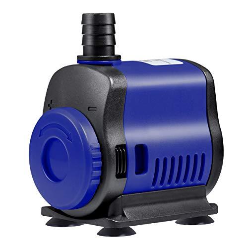 UEETEK Wasserpumpe Tauchpumpe (1000L/H, 14W) Ultra Leise Submersible Pumpe Teichpumpe Aquarienpumpe für Teich Garten Brunnen Aquarium
