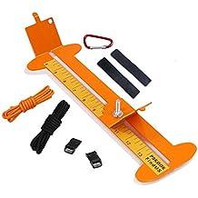 Paracord Armband Maker mit 6 Parachute Bindekordeln und 6 Quick Release Schnallen und 2 Edelstahl 550 Paracord FID TooTaci Paracord Geflecht Weben DIY Craft Tool kit-heavy Duty Schnallen