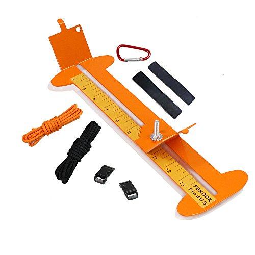 """Pulsera de pskook Jig Kit ajustable longitud Metal Tejido DIY Craft eléctrica herramienta 4 """"a 13"""" con cuerda de paracaídas y hebillas,(Amarillo)"""