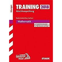 Training Abschlussprüfung Realschule Mathematik Sachsen Lösungsheft