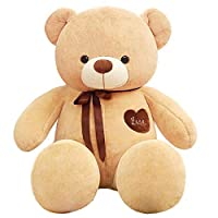 Happytoys 100cm Giant Teddy Bear Giant Plush Stuffed Toys Doll Lovers Valentines Birthday Gift ,light brown