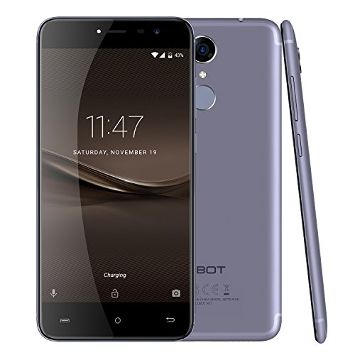 CUBOT Note plus (2017) - Smartphone Libre 4G Android 7.0, (Pantalla táctil 5.2' HD, 2800mAh batería, 3GB Ram + 32GB ROM, Quad core, Dual SIM, Cámara 16Mp, 1.5 GHz), color Azul