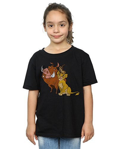 Disney Girls The Lion King Classic Simba, Timon and Pumbaa T-Shirt in 3 Colours - Ages 5 to 13