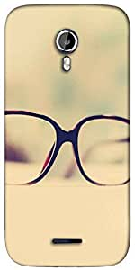 Snoogg hipster glasses Designer Protective Back Case Cover For Micromax A117