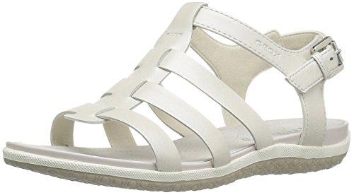 Geox Damen Sandalette - Riemchen Sandalen SAND.VEGA - donna sandal vega a D72R6A 000BV C1000 Weiß, EU 37