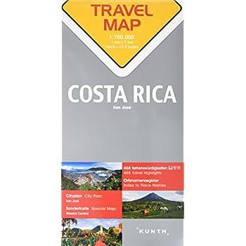 Carte de voyage Costa Rica 1 : 700 000