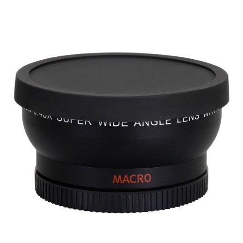 Universale 58 mm Grandangolare 0.45x Obiettivo Macro Nero Per Canon Nikon Sony