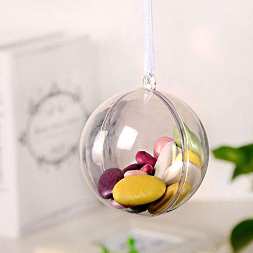 Christmas Ornaments Vielzahl Set   DIY Basteln Hochzeit Dekorationen Bath Bomb Form DIY Projekte Klar Kunststoff Kugeln & Mirror Ball Texturen bruchfestem Kunststoff   60mm Rund Ornaments