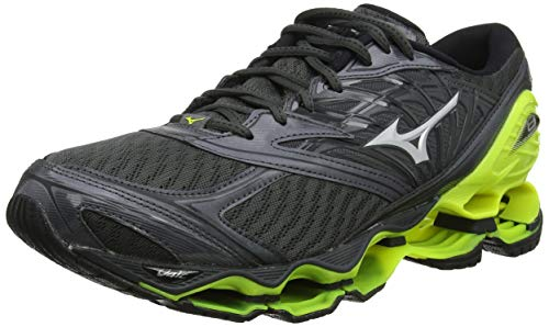 Mizuno Wave Prophecy 8, Herren Laufschuhe, Grau (DarkShadow/Silver/SafetyYellow 05), 44.5 EU