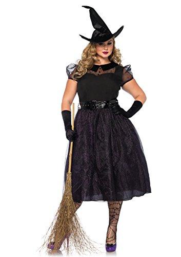 Leg Avenue Damen Kostüm Darling Spellcaster Hexe schwarz 3XL - 4XL ()