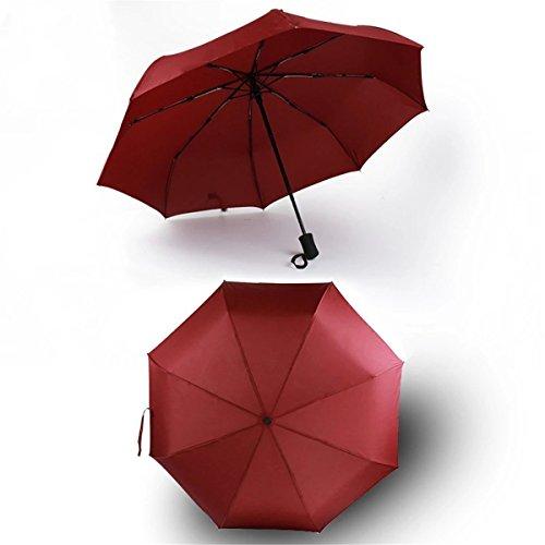 GSXCE Windproof Regenschirm, automatische Öffnung und Schließung, automatische Haube / kompakt / Lichtreflexion, geeignet für Business, Reisen, Golf / kompakt / stark