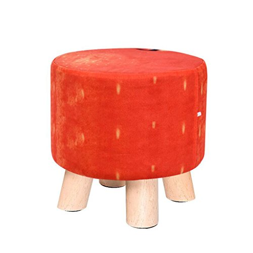 Xuan - Worth Having Tabouret Rouge Set Woody Tabouret à Quatre Pattes Tabouret Bas créatif Enfant canapé Tabouret (29 * 29 * 28cm)