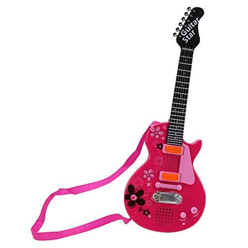 Yvsoo Guitarra Juguete,6 Cuerdas Guitarra Eléctrica para Niños Infantil Guitarra Instrumentos Musicales...