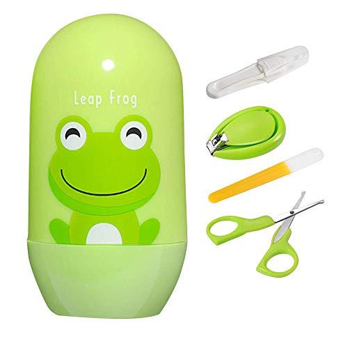 4-teiliges Baby Maniküre Set Baby Maniküre Pflegeset mit Scherenfeile, Nasenpinzette, wichtigen Grundlagen Babyschere, Baby-Nagelknipser für jedes Kind, Neugeborene, Kleinkinder oder Kleinkinder