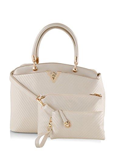 Mark & Keith Women Handbag White MBG 0302 WH