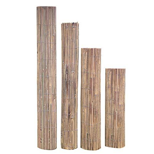 INTERGo Bambus sichtschutz,100 x 500cm Sichtschutz Balkon Sichtschutzmatte für Garten, Beach,Balkon und Terrasse