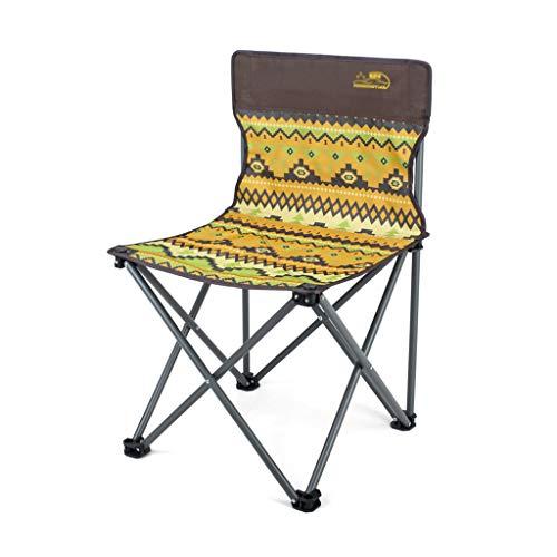 outdoor fois fauteuil, art croquis outdoor jouer pique - nique à la plage, faciles à emporter une chaise pliante créatif dorant multifonction (Couleur : A, taille : 40 * 40 * 69CM)