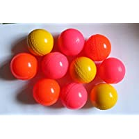 sports-24 - Pelota de críquet para Adultos (6 Unidades), Color Amarillo, Rosa y Naranja
