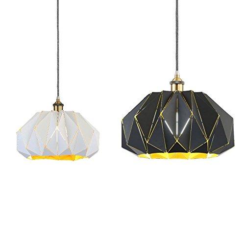 Plug-in Pendelleuchte-lampen (Kreative Persönlichkeit Eisen Kunst Kronleuchter Bar Theke Lampen Moderne minimalistische Pendelleuchte (einstellbar) , black40cm)