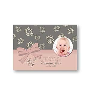 Personalizzata per neonato di ringraziamento, confezione da 10 pezzi, consegna gratuita &-Nastro da inserto per foto e fiori, n. 30)