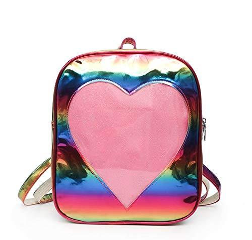 sion Mode Schulter Regal Großhandel Neue Geld Tasche Korea Version Mode Schrott Mode Strand Radium Studenten (Color : Rainbow) ()