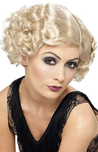 Damen 1920's 20's Gangster Polly Gnade Flapper Charleston TV Film Kurz Lockig Kostüm Kleid Outfit Zubehör Perücke - blond, One Size (1920 Damen Gangster Kostüm)