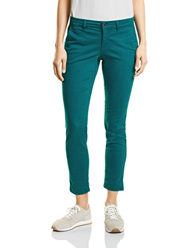 Street One Damen Hose 371246 Chino, Grün (Teal Green 11270), 42