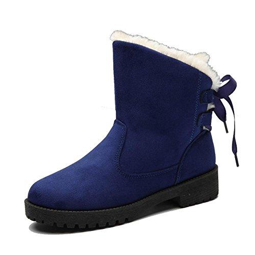 Chaussures En Daim En Cuir Suédé Pour Femmes Avec Sangles Plissées Plissées En Bas Bleu