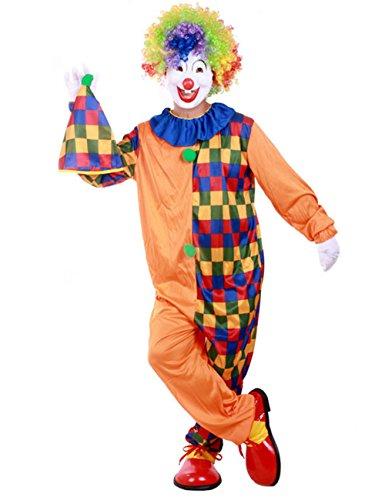Frauen Für Kostüm Jester Halloween (THEE Clown Kostüm Halloween Cosplay Karneval Fasching Fastzeit)