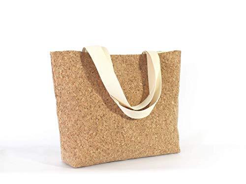 große braune Tasche aus Kork, veganer Shopper - 3
