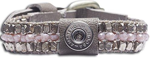Noosa Petite Armband ohne Chunk Raw Romance healing grau, Größe:S