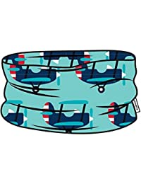 MAXOMORRA Jungen Schal Blau Flugzeug Schlauch Plane BioBaumwolle Gots