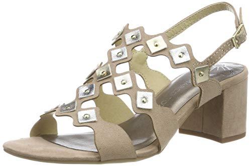 MARCO TOZZI 2-2-28330-22, Sandali con Cinturino alla Caviglia Donna, Beige (Nude Comb 478), 37 EU
