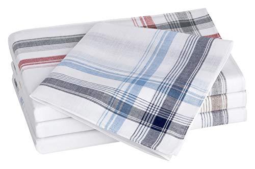 Tobeni 10 Stück Herren Stoff Taschentücher Herrentaschentücher Stofftaschentücher 100% gekämmte Baumwolle Farbe Design 12 Grösse 40 cm x 40 cm