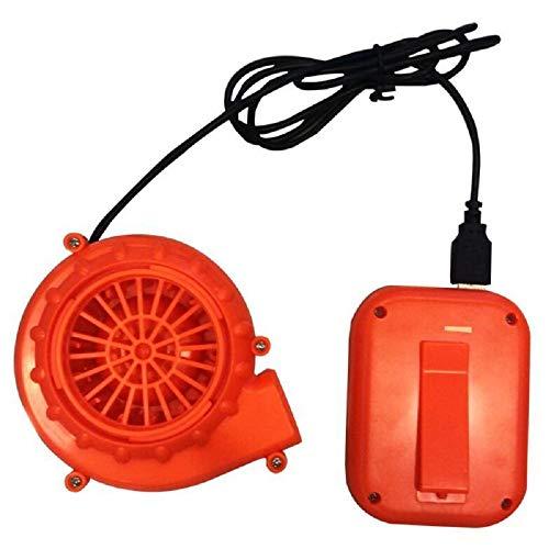 Happy Island Luftpumpengebläse und Batteriegehäuse für aufblasbare Kostüme, gewöhnliche kleine Ventilatorbox, benötigt 4 Stück Nr. 5 Batterien, Orange