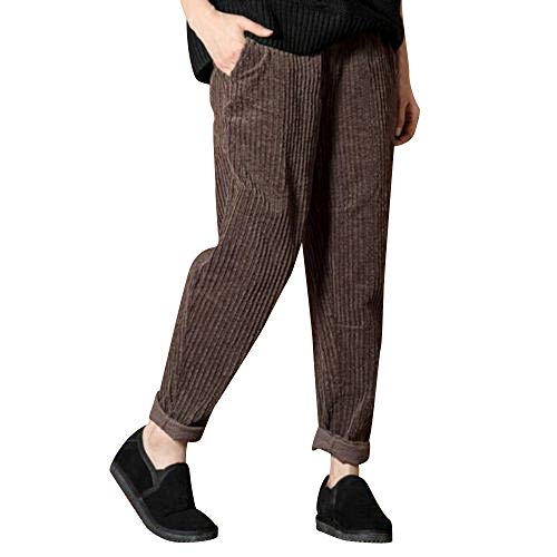 Yvelands Hosen,Freizeithose Damen Lang Pants Mit Multi-Tasche Party Stil Cordhose Knopfleiste Unifarben Slim Fit High Waist Hose Trendigen Outdoor Hose Moderner Stil Young Fashion Mädchen