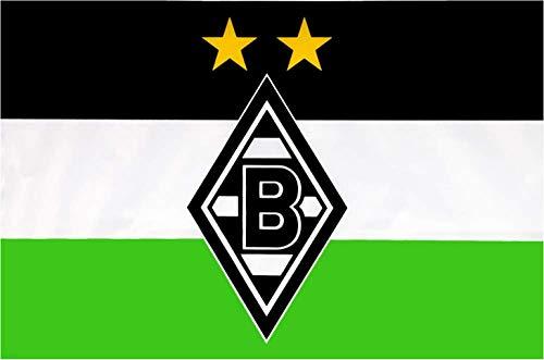 Flaggenfritze Hissflagge Borussia Mönchengladbach Logo - 100 x 150 cm + gratis Aufkleber