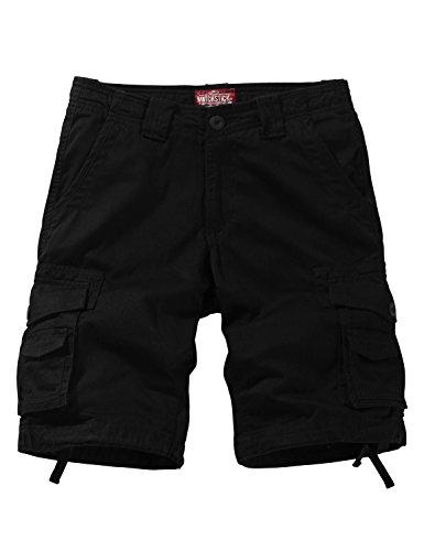 Match Herren Cargo Shorts #S3612(3612 Schwarz,42 (Tag Size L/32))