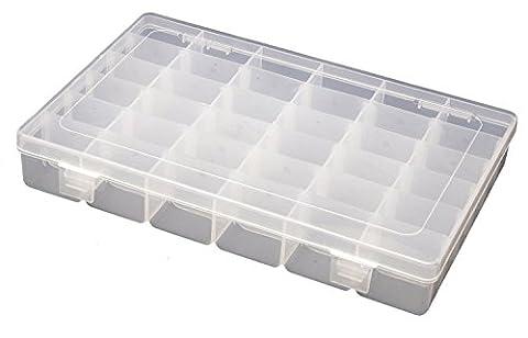 katomi réglable 36Compartiment Bijoux Boîte de rangement en plastique pour Craft Outil Boîte ¡