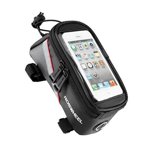 Tofern Impermeabile MTB BMX Bicicletta ciclismo Telaio Borsa Bici Frontale Telefono Cellulare Borse da sella (Borsa Telaio)
