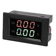 YB4835VA dual display geïntegreerde spanning ampèremeter paneel ampvolt gauge DC 0~100 V 20 A voltmeter ampèremeter