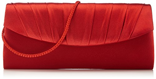 Paco Mena Damen Basic Clutches, (Rot 07), 26x12x5 cm -