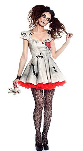 FHSIANN Halloween Kostüm Mädchen Frauen Cosplay Kleid Voodoo Puppe Kostüme Für Erwachsene Phantasie - Sexy Voodoo Puppe Kostüm