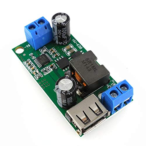 Stabilisateur intégré convertisseur stabilisé Haute Puissance 9V / 12V / 24V / 36V à 5V HW-638 5V 5A - Vert