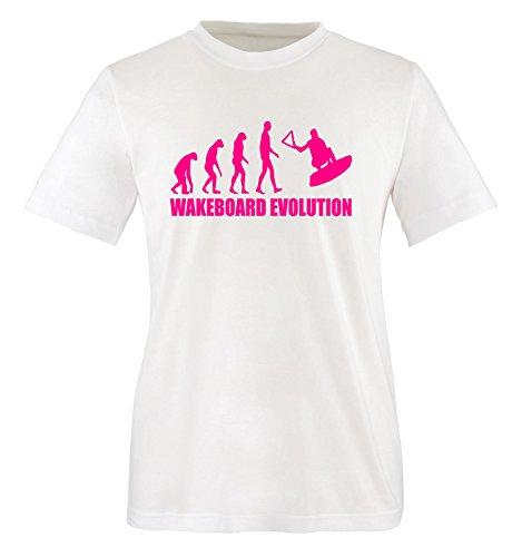 WAKEBOARD EVOLUTION - Kinder T-Shirt Weiss/Pink Gr. 86-92