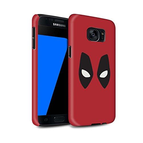 n Stoßfest Hülle/Case für Samsung Galaxy S7/G930 / Deadpool Maske Inspiriert Muster/Superheld Comic-Kunst Kollektion ()